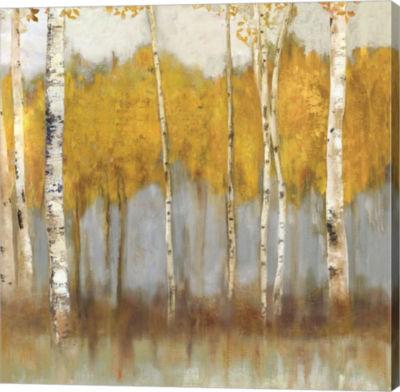 Metaverse Art Golden Grove II Canvas Art