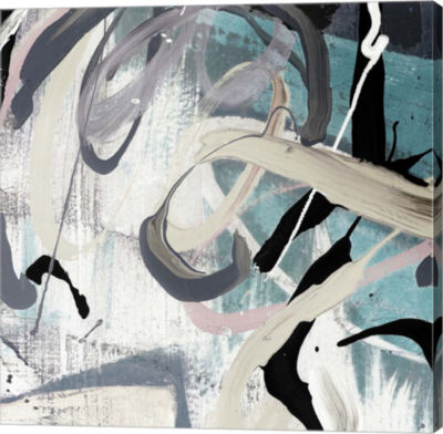 Metaverse Art Tangled I Teal Canvas Art