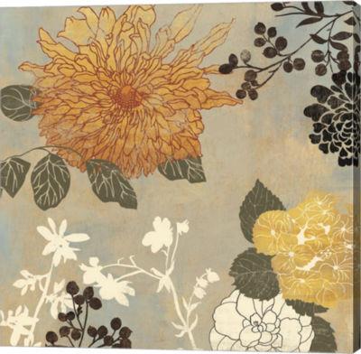 Metaverse Art Grace Flowers I Canvas Art