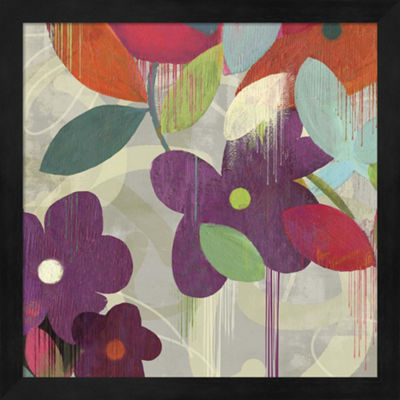 Metaverse Art Graphitti Flower I Framed Wall Art