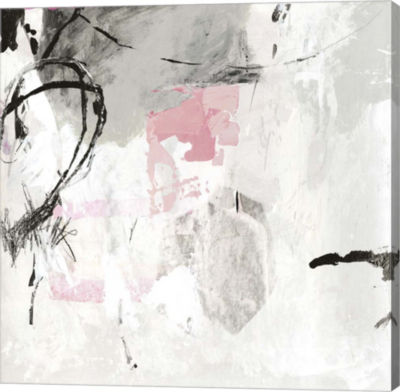 Metaverse Art Gray Pink I Canvas Art