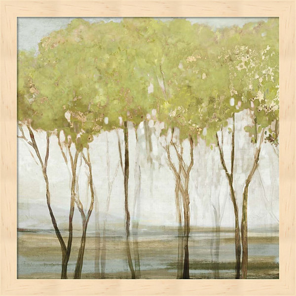 Metaverse Art Green Canopy II Framed Wall Art