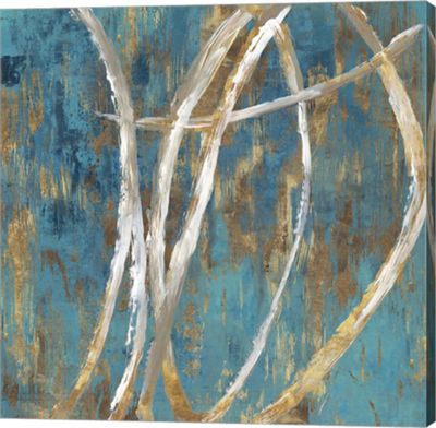 Metaverse Art Teal Abstract II Canvas Art