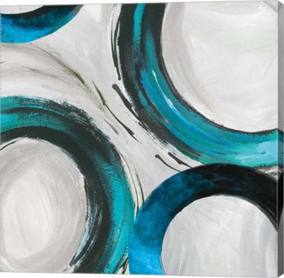 Metaverse Art Teal Ring I Canvas Art