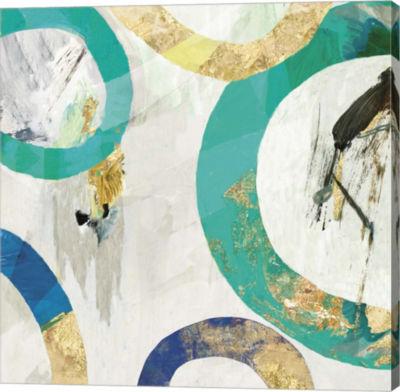 Metaverse Art Green Rings II Canvas Art