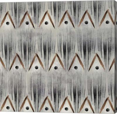 Metaverse Art Grey Tribal I Canvas Art