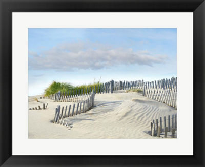 Metaverse Art Beachscape III Framed Wall Art