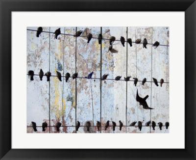 Metaverse Art Birds on Wood IV Framed Wall Art