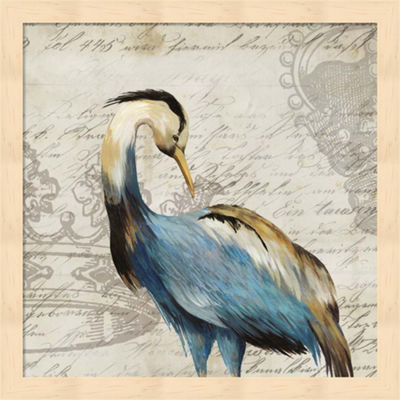 Metaverse Art Heron I Framed Wall Art