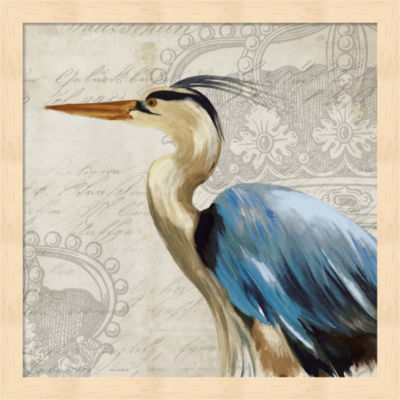 Metaverse Art Heron II Framed Wall Art