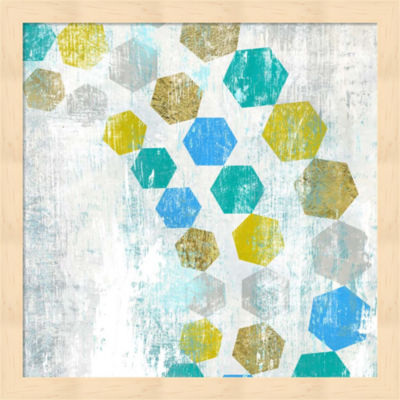 Metaverse Art Hexagon IV Framed Wall Art