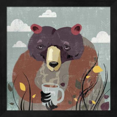 Metaverse Art Honey Bear Framed Wall Art