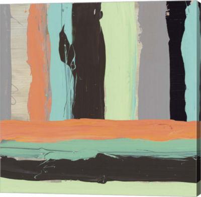 Metaverse Art Alt Stripes I Canvas Art