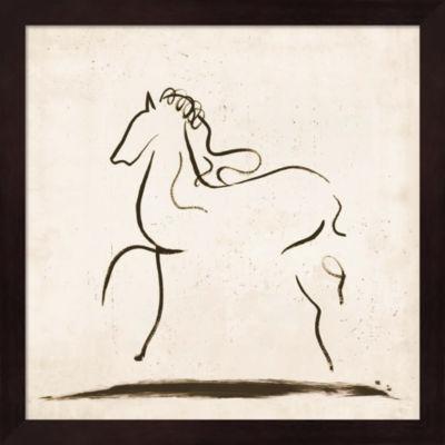 Metaverse Art Horse I Framed Wall Art