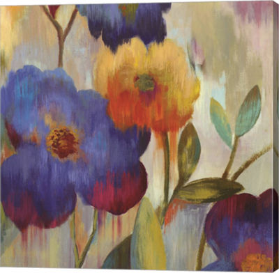 Metaverse Art Ikat Florals I Canvas Art