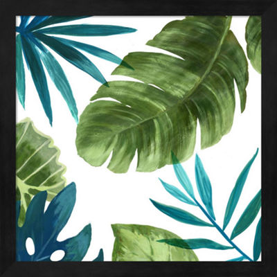 Metaverse Art Tropical Leaves II Framed Wall Art