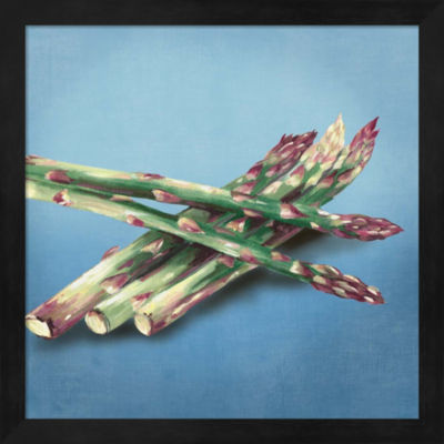 Metaverse Art Asparagus Framed Wall Art