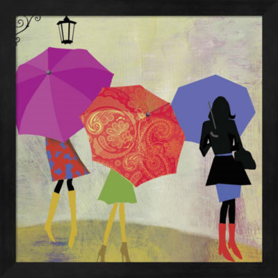 Metaverse Art Umbrella Girls Framed Wall Art