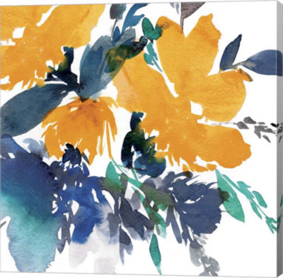 Metaverse Art Indigo Flower I Canvas Art