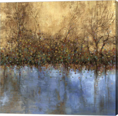 Metaverse Art Indigo Landscape Canvas Art