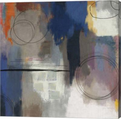 Metaverse Art Indigo Touch  II Canvas Art
