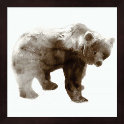 Metaverse Art Bear Framed Wall Art
