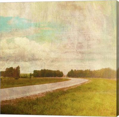 Metaverse Art Vintage Road Canvas Art