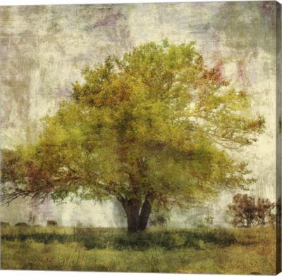 Metaverse Art Vintage Tree Canvas Art