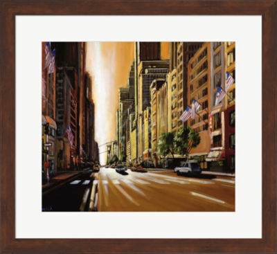 Metaverse Art Light of Manhattan Framed Wall Art