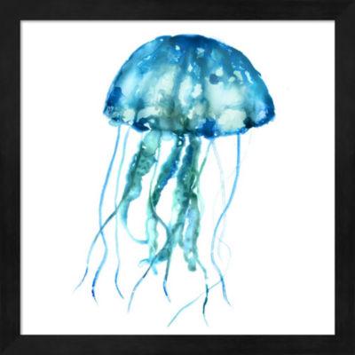 Metaverse Art Jellyfish Framed Wall Art