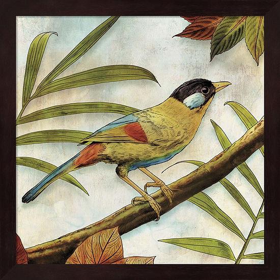 Metaverse Art Jungle Bird I Framed Wall Art