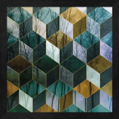 Metaverse Art Kaleidoscope Visions III Framed WallArt
