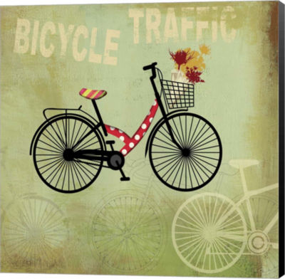 Metaverse Art Bicycle Traffic Canvas Art