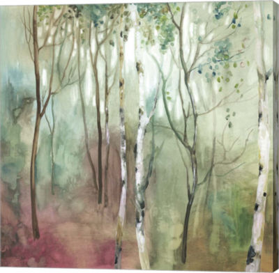 Metaverse Art Birch in the Fog I Canvas Art