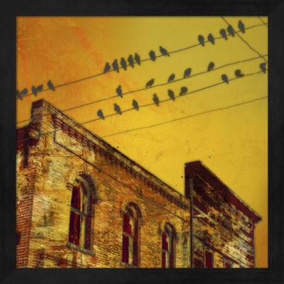 Metaverse Art Birds on a Wire I Framed Wall Art
