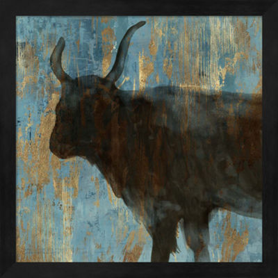 Metaverse Art Bison II Framed Wall Art