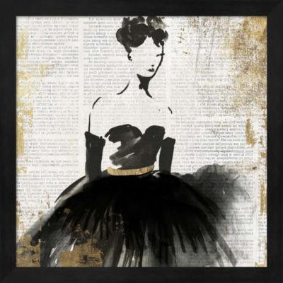 Metaverse Art Lady in Black II Framed Wall Art