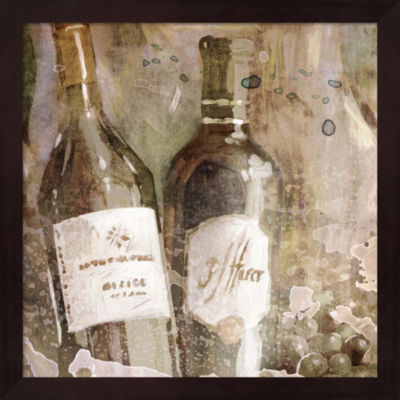 Metaverse Art Wedding Wine I Framed Wall Art