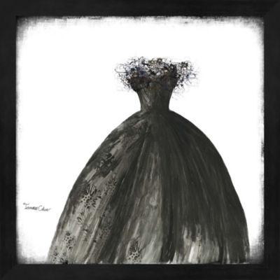 Metaverse Art Black Dress I Framed Wall Art