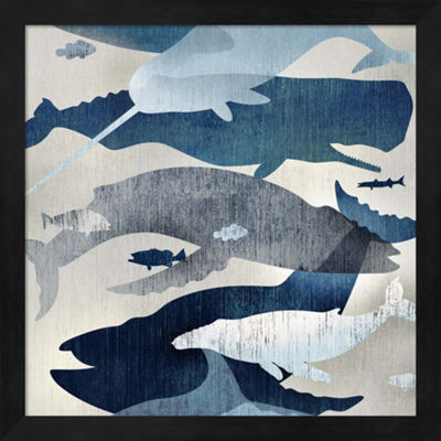 Metaverse Art Whale Watching I Framed Wall Art
