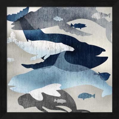 Metaverse Art Whale Watching II Framed Wall Art