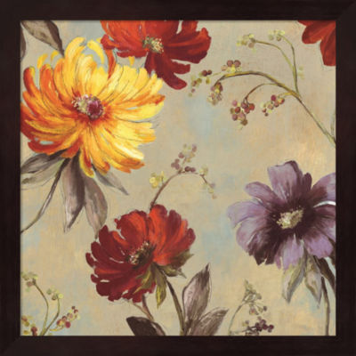 Metaverse Art Whimsical Floral II Framed Wall Art