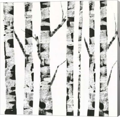 Metaverse Art White Birch Canvas Art