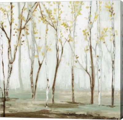 Metaverse Art White on White Landscape Canvas Art
