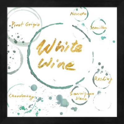 Metaverse Art White Wine Gold Framed Wall Art