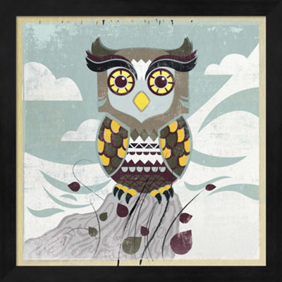 Metaverse Art Wise Owl Framed Wall Art