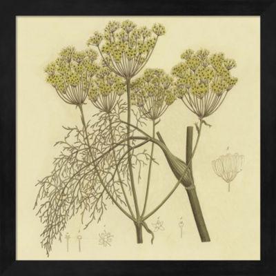 Metaverse Art Yellow Weeds Framed Wall Art