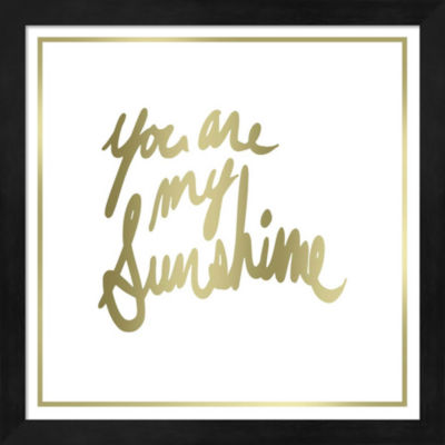 Metaverse Art You are My Sunshine Framed Wall Art