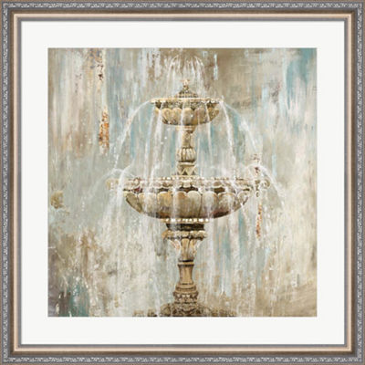 Metaverse Art Fountain Framed Wall Art