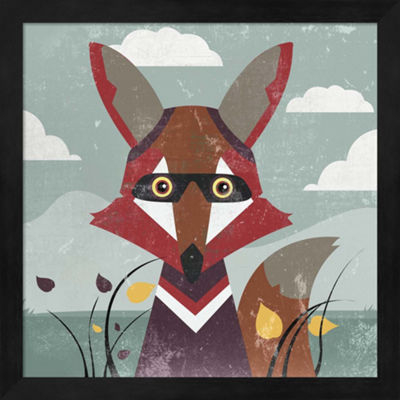 Metaverse Art Fox Framed Wall Art